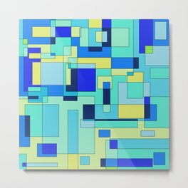 Digital geometric design 3 Metal Print