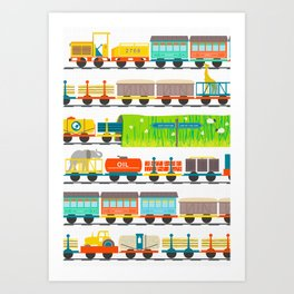 Long Train Art Print