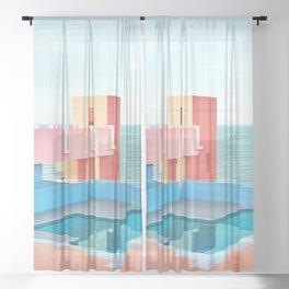 Muralla Roja Sheer Curtain