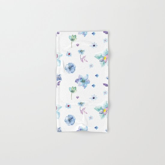 Delicate Floral Pattern 02 Hand & Bath Towel