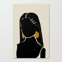 Black Hair No. 3 Canvas Print