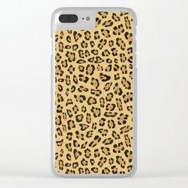 Jaguar pattern Clear iPhone Case