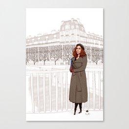 Les Parisiens - Dame Sophistiquée Canvas Print