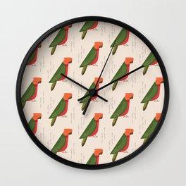 Australian King Parrot | Pattern Wall Clock