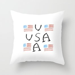 Flag of Usa 6- america,us,united states,american,spangled,star and strips Throw Pillow