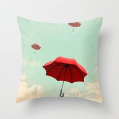 rising into the blue Throw Pillow