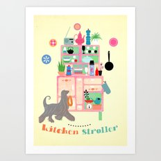 Kitchen Stroller Art Print