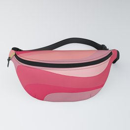 3d pink waves  Fanny Pack