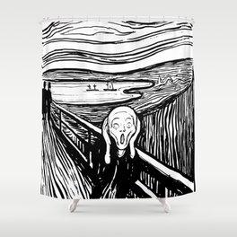 Edvard Munch The Scream 1895 Lithograph Reproduction Artwork for Prints Posters Tshirts Men Women Ki Shower Curtain