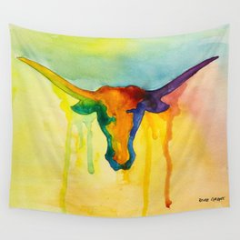 Colorful and Majestic Longhorn Wall Tapestry