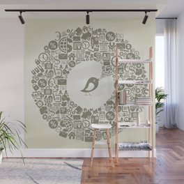 Bird business Wall Mural