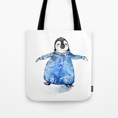 Baby Penguin in Onsie Tote Bag