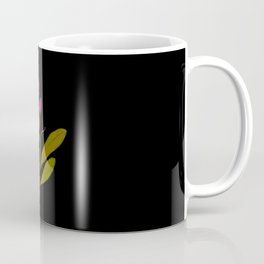 Rhododendron Ponticum Mary Delany British Botanical Floral Art Paper Flowers Black Background Coffee Mug