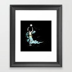Dance Into The Moonlight Framed Art Print