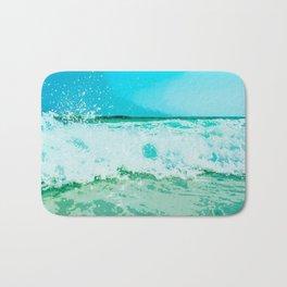 Clashing Waves Bath Mat