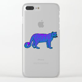 The curious snow leopard Clear iPhone Case