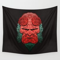 abyss Wall Tapestries featuring Hell abyss by Daniac Design