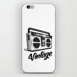 Vintage Boombox Graphic iPhone Skin