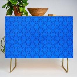 Classic Blue Moroccan Print Credenza