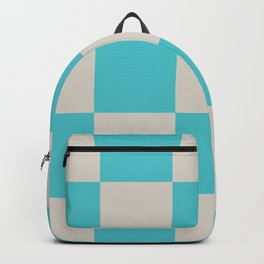 geometric retro checked long Backpack