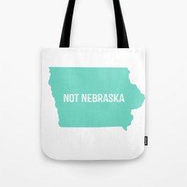Not Nebraska  Tote Bag