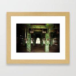 oil refinery Framed Art Print