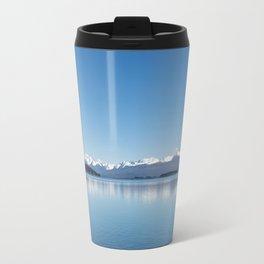 Blue line landscape Travel Mug