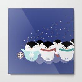 Little Penguins Metal Print