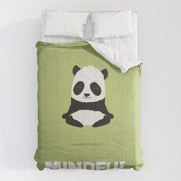 Mindful panda levitating Comforters