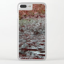 Autumn Rain Clear iPhone Case