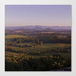 Sunrise Glassy Mountain, South Carolina Canvas Print