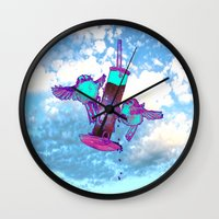 tits Wall Clocks featuring Beautiful Space Tits by HiddenStash Art