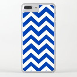 UA blue - blue color -  Zigzag Chevron Pattern Clear iPhone Case