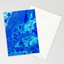 AN ABSTRACT PATTERN IN THE BLUE WATER SURFACE Stationery Cards