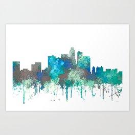 Los Angeles Skyline - SG Jungle Art Print