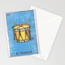 El Tambor Mexican Loteria Bingo Card Stationery Cards