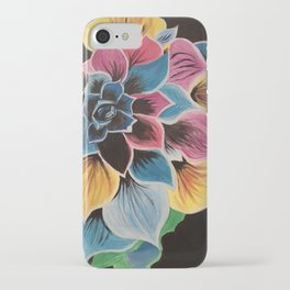 Colourful Flower by Noelle's Art Loft iPhone Case