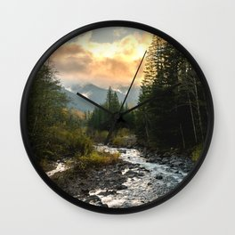 The Sandy River I - nature photography Wall Clock