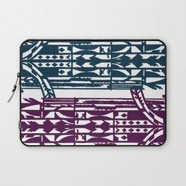 Art Deco Geometric Pattern in Purple and Teal Laptop Sleeve