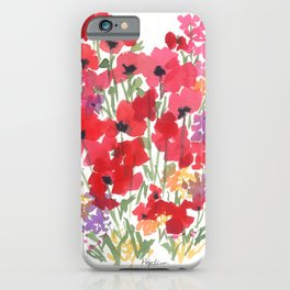 Little Red Poppy Patch iPhone Case