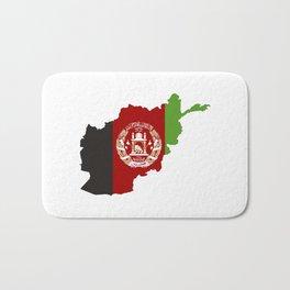 afghanistan flag map Bath Mat