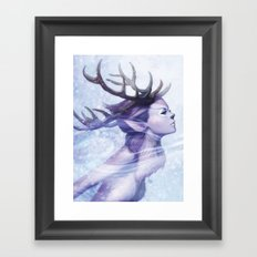Deer Princess Framed Art Print
