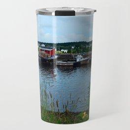 Fisherman's Wharf in Cape Breton Travel Mug