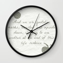 Quotation Marks Wall Clock