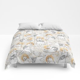 Floral Cats Comforters