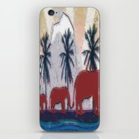 elephants iPhone & iPod Skins featuring Elephants by LoRo  Art & Pictures