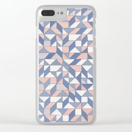 Shifting geometric pattern Clear iPhone Case