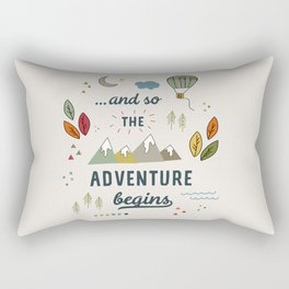 ...and so the adventure begins Rectangular Pillow