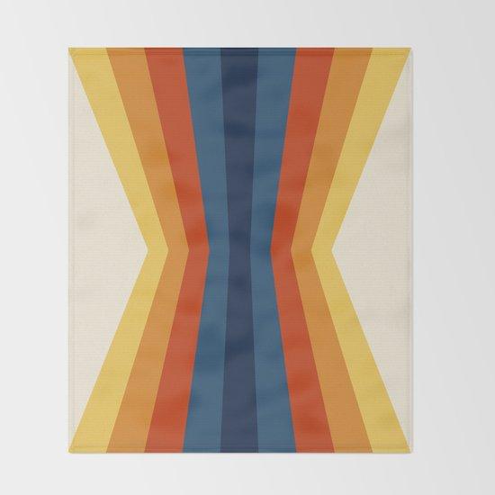 Bright 70's Retro Stripes Reflection by colourpoems