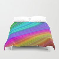 rainbow Duvet Covers featuring Rainbow by David Zydd
